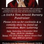 Tom Arnold Bursary Fundraiser in Cape Town – 5 November 2016